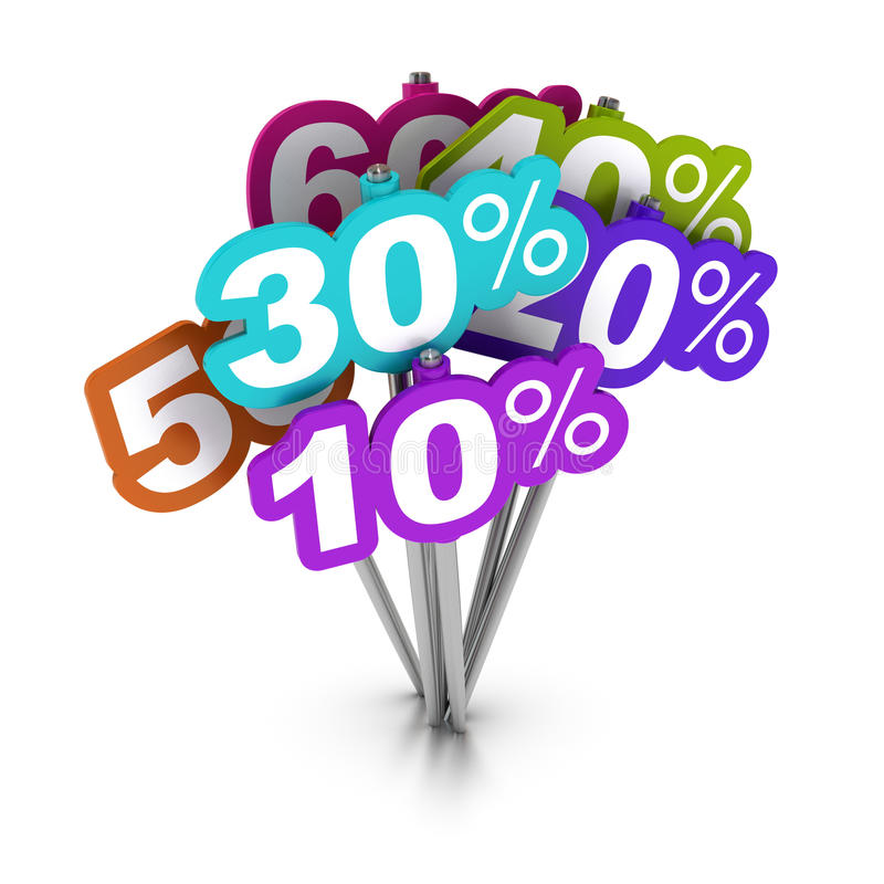 Percent signs stock illustration