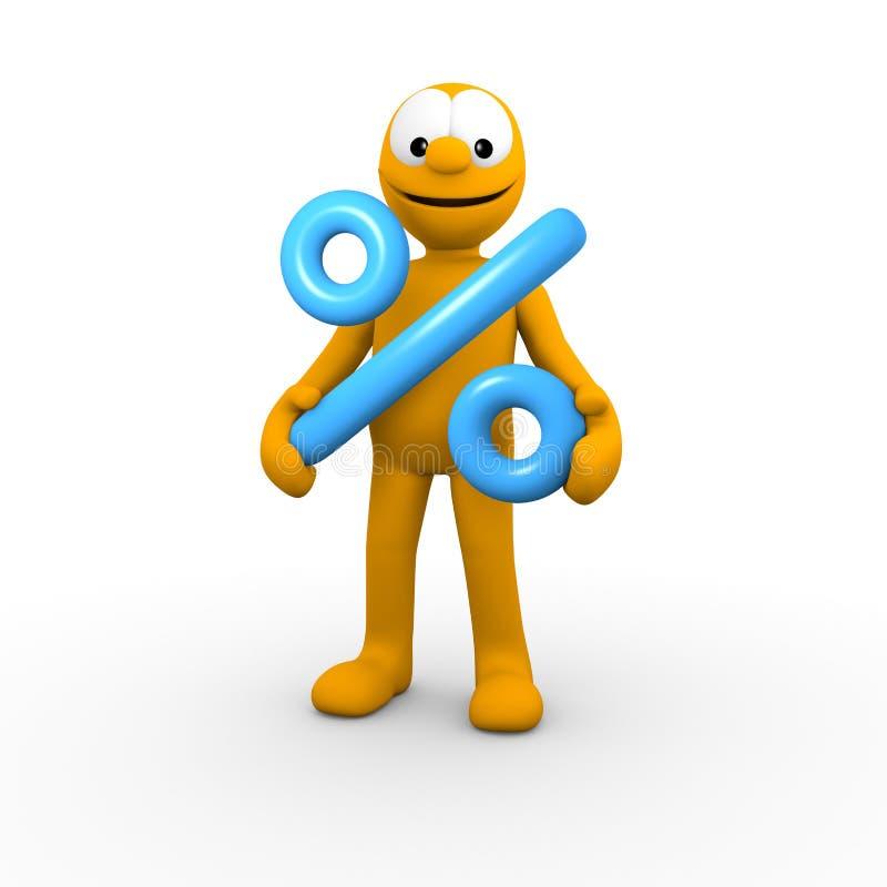Download Percent symbol stock illustration. Image of profit, person - 22806665