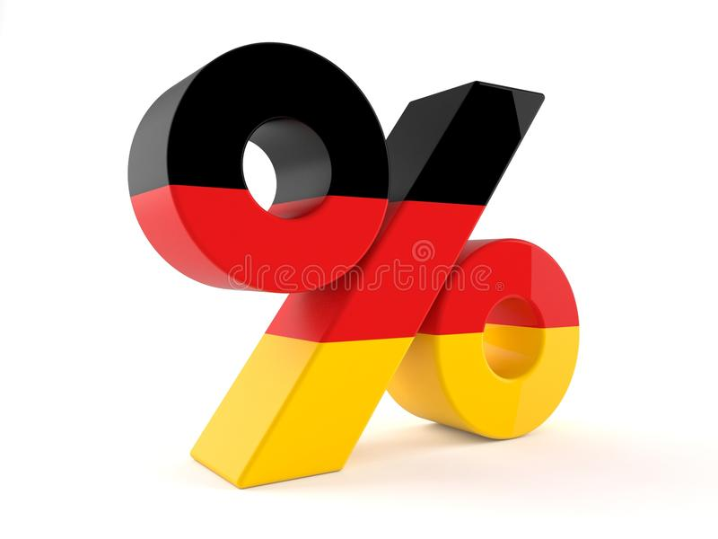Percent Symbol With German Flag Stock Illustration Illustration Of