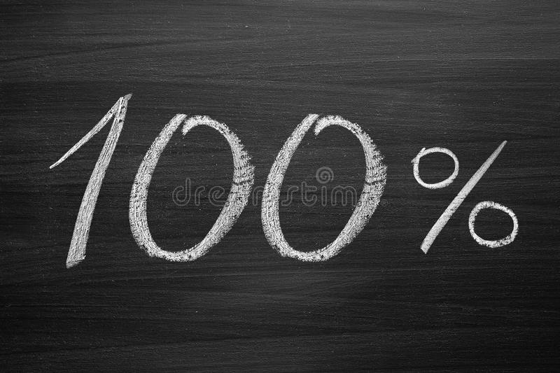 100-percent title stock image