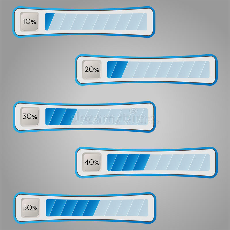Percentage bars. Vector illustration. stock photos