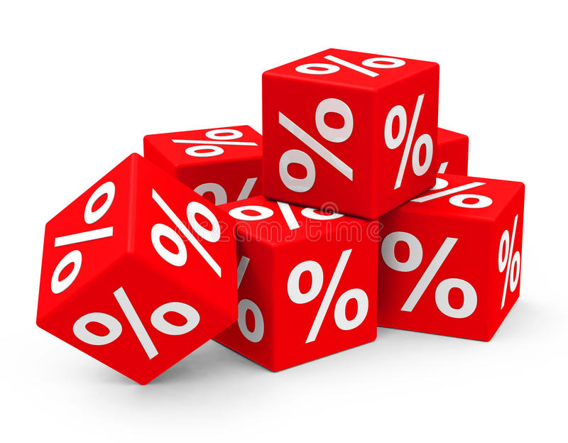 Percentage. 3d generated picture about percentage stock illustration