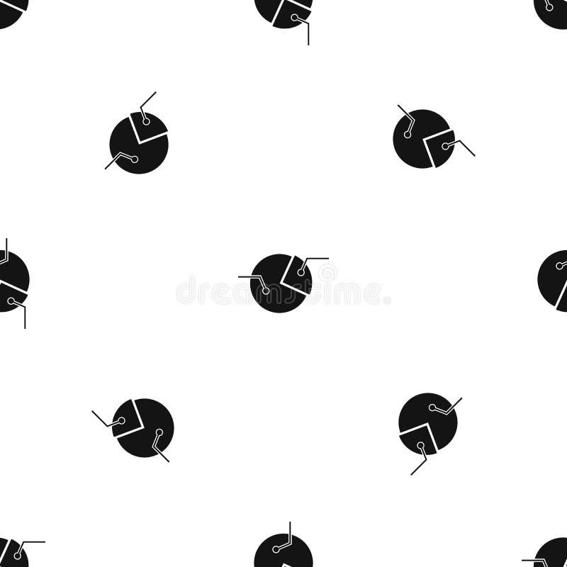 Percentage diagram pattern seamless black royalty free illustration