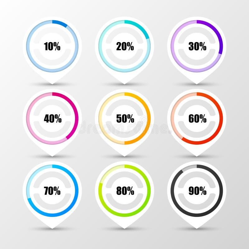 Percentage Diagram Presentation. Infographic design template. Vector. Illustration stock illustration