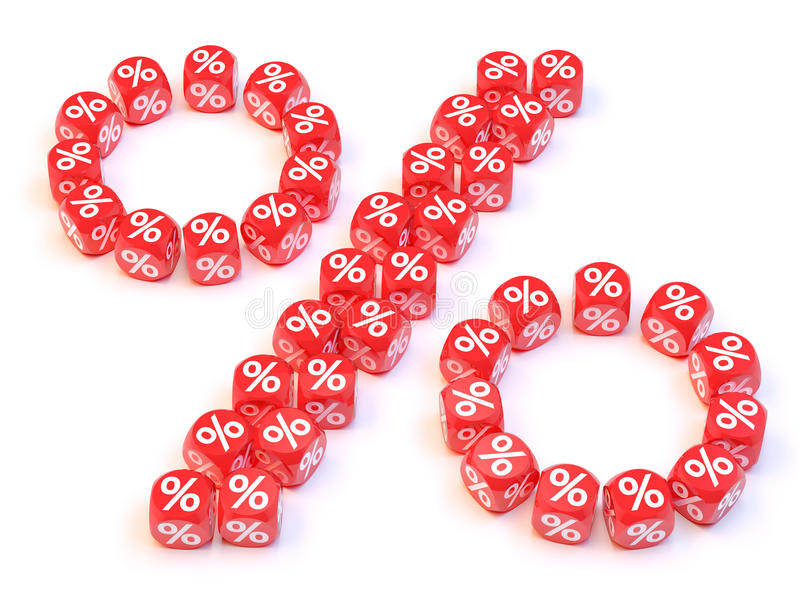 Percentage dice. Group a percentage dice create a percentage shape royalty free illustration