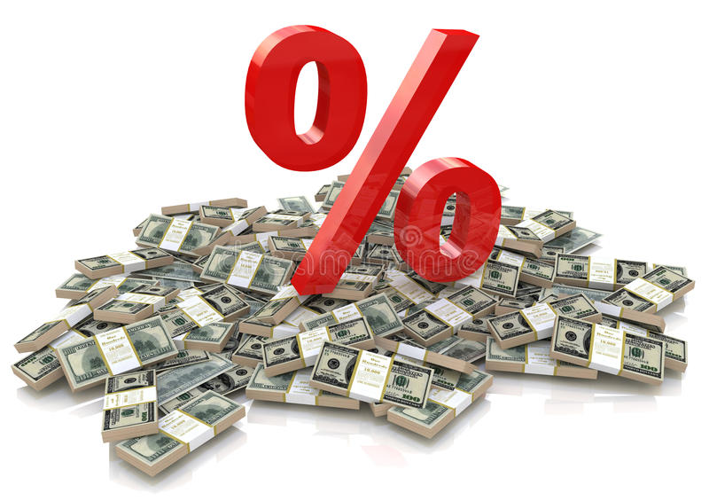 Percentage and money royalty free stock photography
