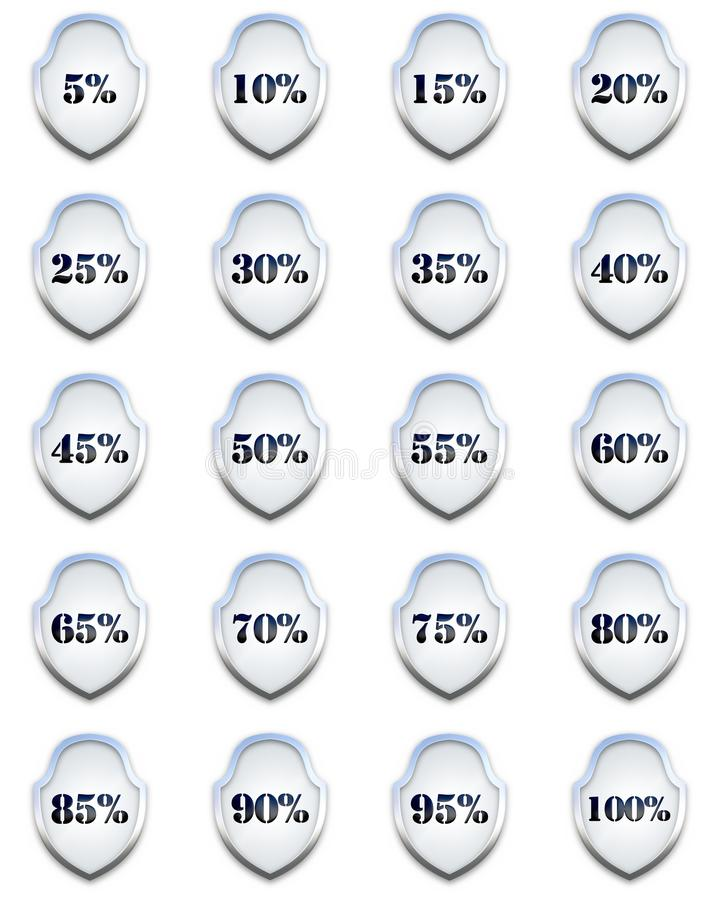 Download Percentage Shields stock illustration. Illustration of illustration - 36602025