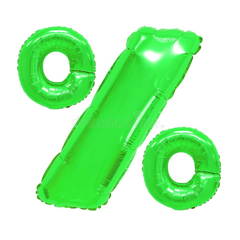 Percentages groene kleur royalty-vrije stock foto
