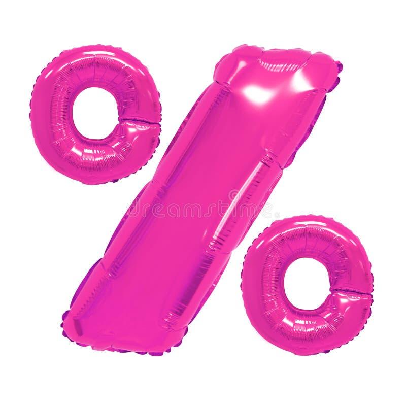 Percentages roze kleur royalty-vrije stock afbeelding
