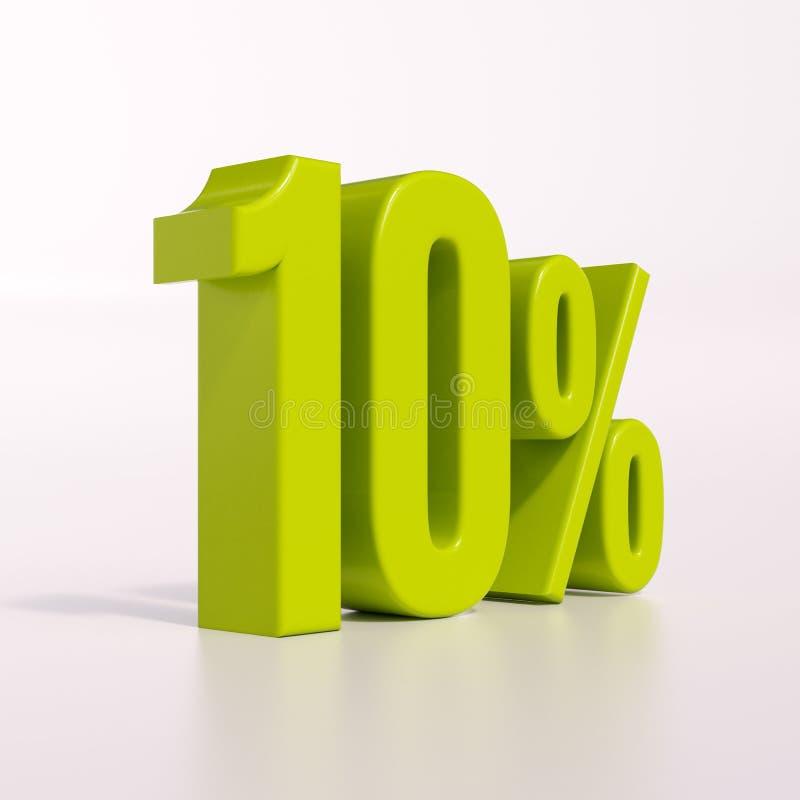 Percentageteken, 10 percenten royalty-vrije stock foto
