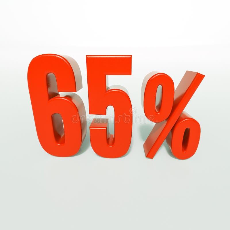 Percentageteken, 65 percenten stock fotografie