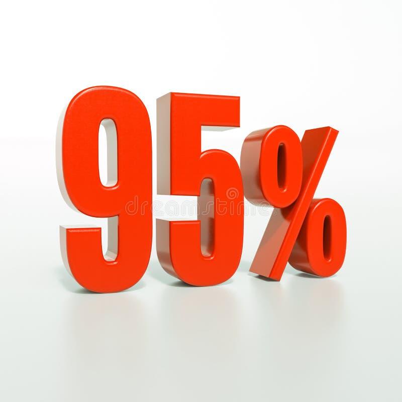 95 percentageteken, 95 percenten stock afbeeldingen