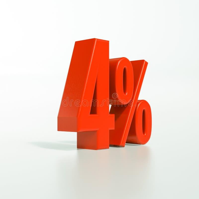Percentageteken, 4 percenten stock afbeelding