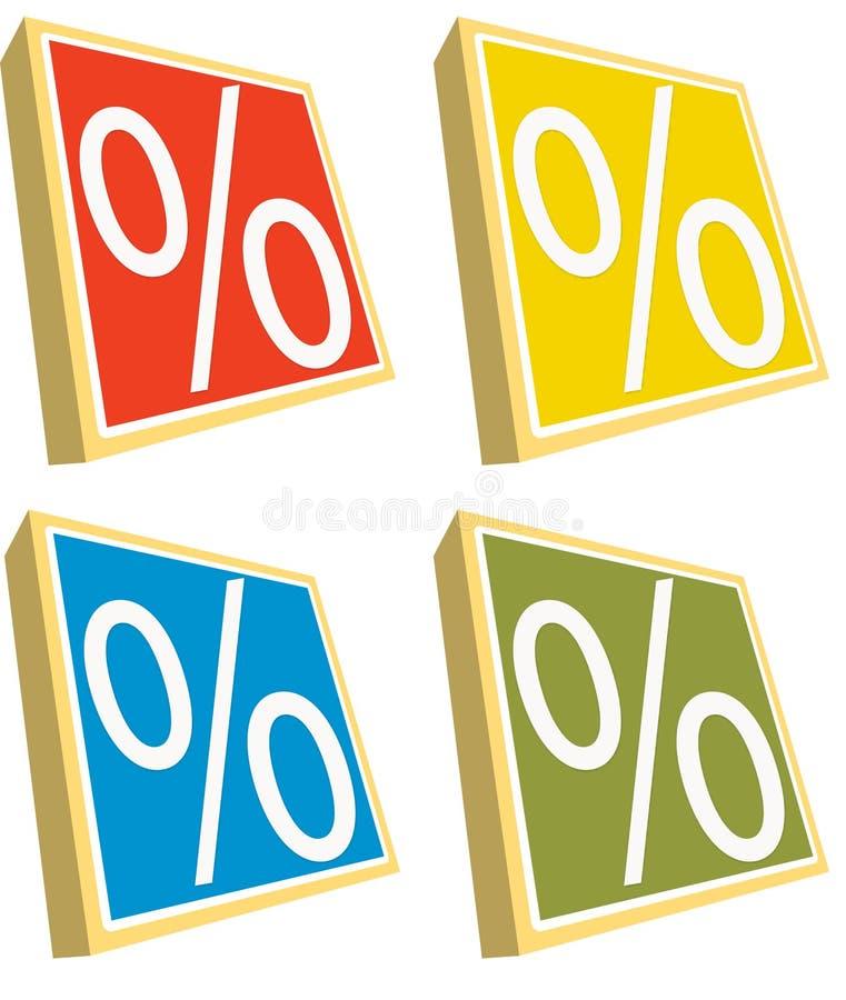 Percenten stock afbeelding