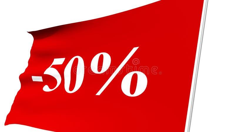 50 percenten royalty-vrije illustratie
