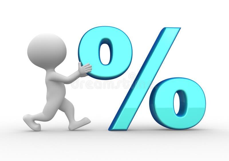 percenten stock illustratie