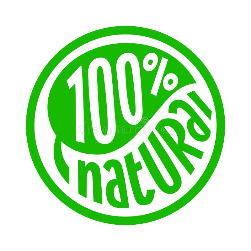 100 percenten natuurlijk etiket royalty-vrije illustratie