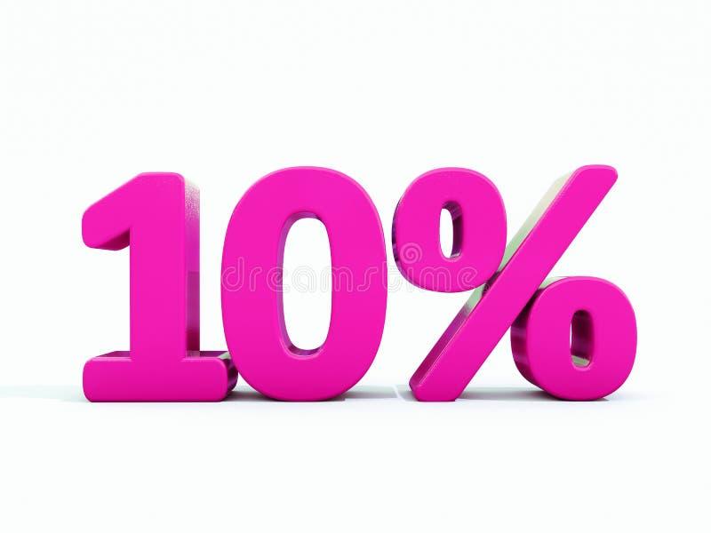 10 percenten Roze Teken vector illustratie