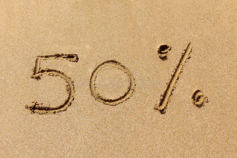 50 percenten weg royalty-vrije stock afbeelding