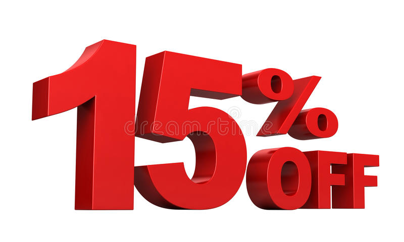 15 percenten weg royalty-vrije illustratie