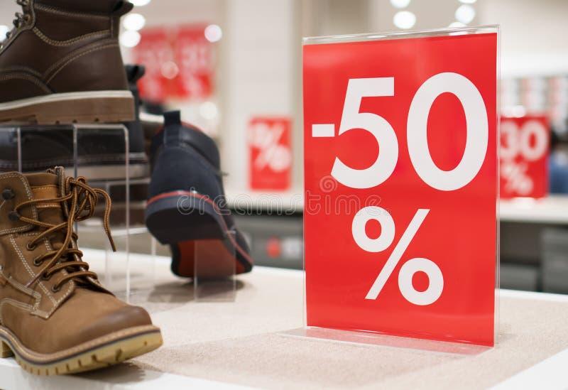50 percentenkorting royalty-vrije stock afbeelding