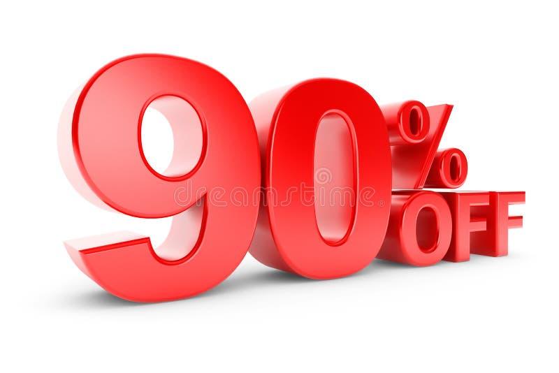 90 percentenkorting stock illustratie