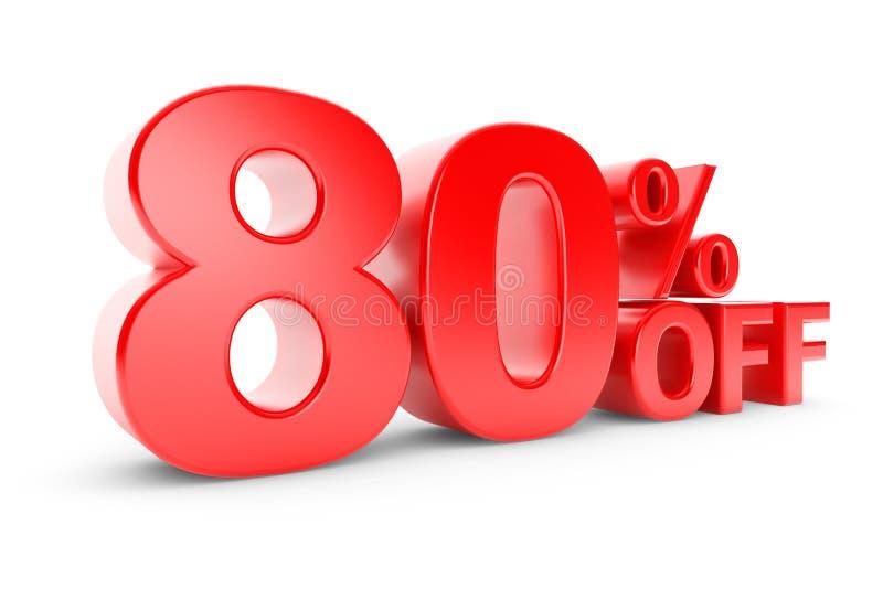 80 percentenkorting royalty-vrije illustratie