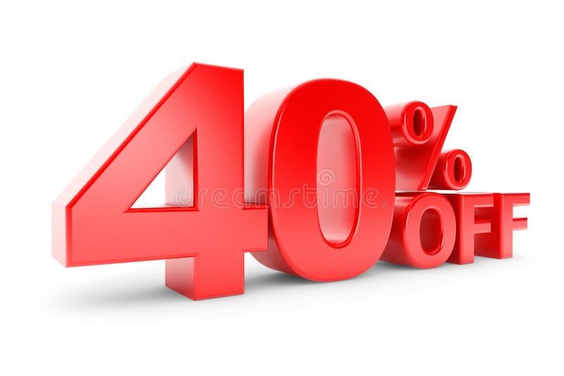 40 percentenkorting stock illustratie