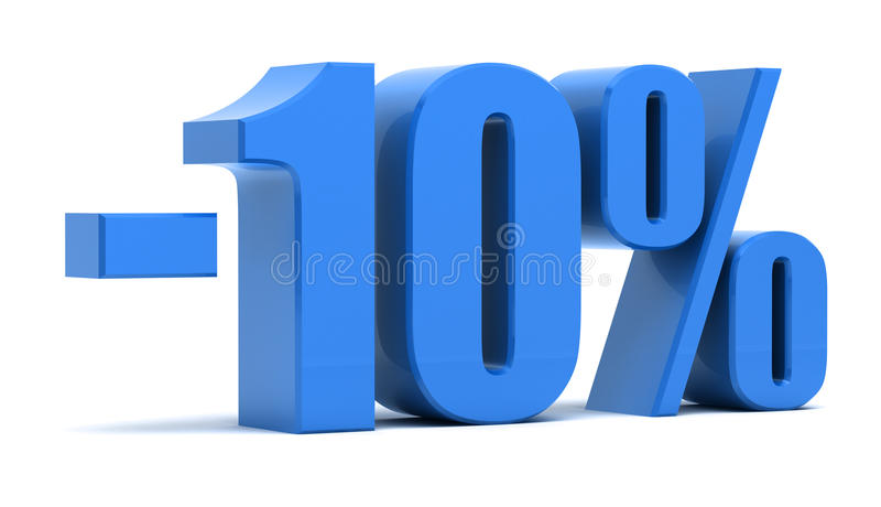 10 percentenkorting stock illustratie