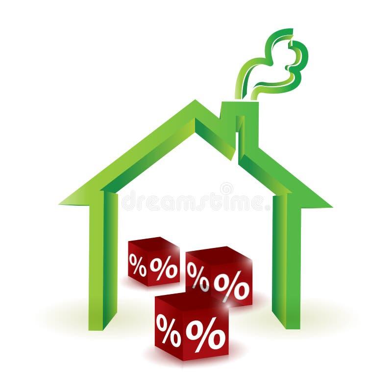 Percentuale di sconto della Camera. progettazione dell'illustrazione illustrazione di stock