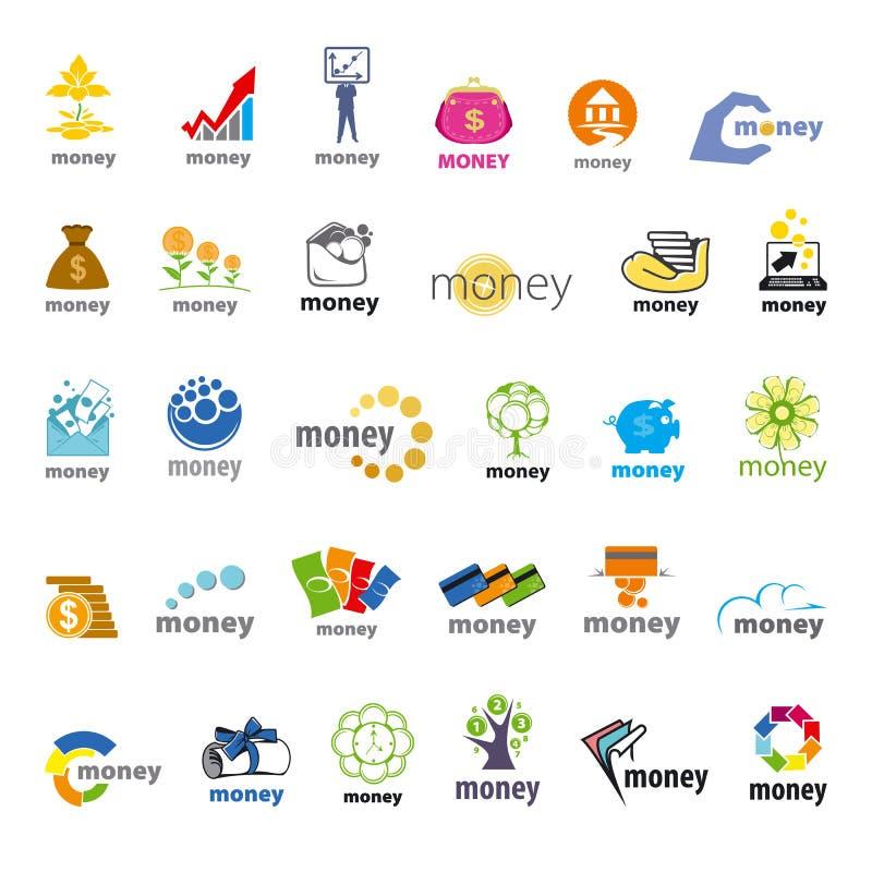 Perception d'argent de logos de vecteur, finances illustration de vecteur