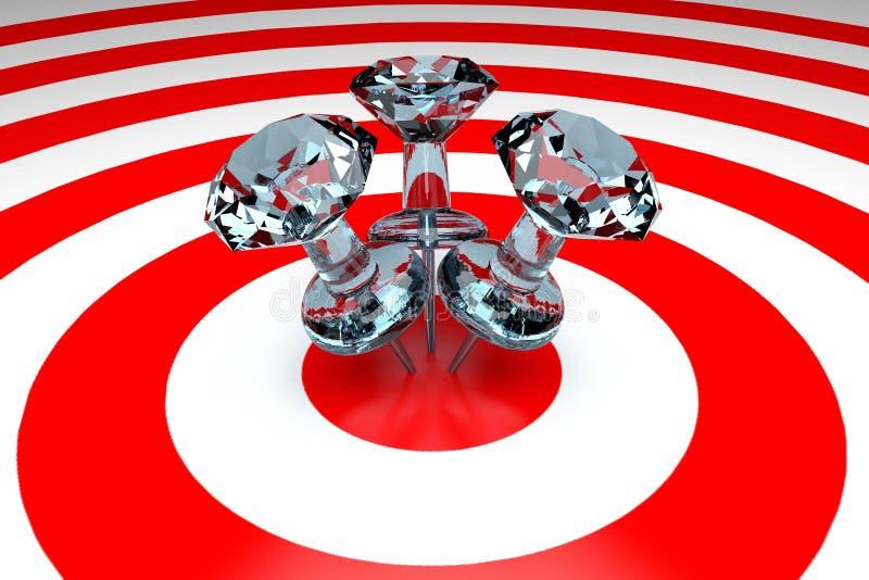 percevejos 3D no alvo ilustração royalty free