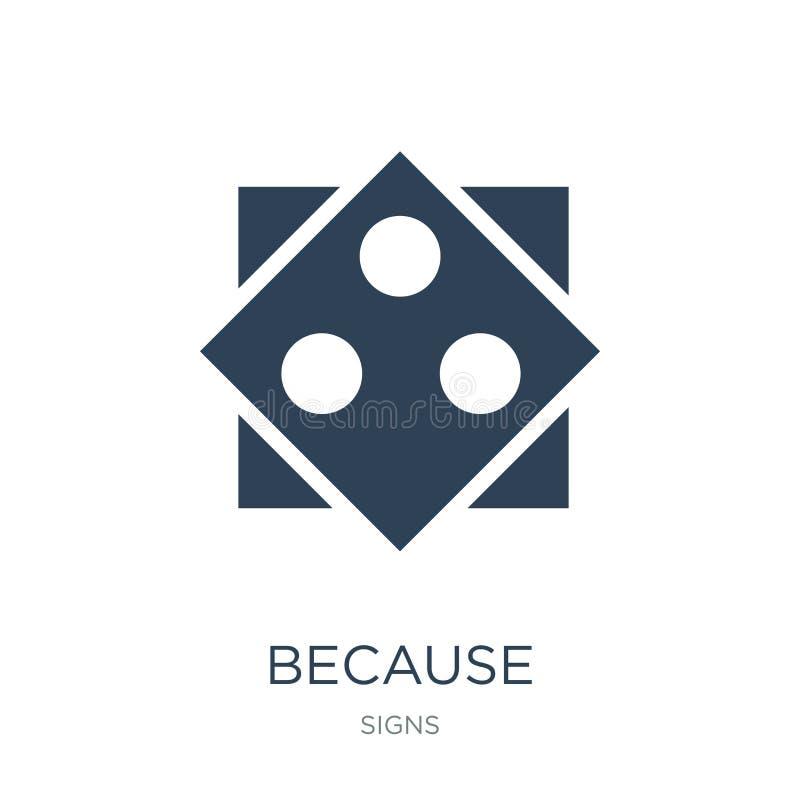 perché icona nello stile d'avanguardia di progettazione perché l'icona ha isolato su fondo bianco perché simbolo piano semplice e illustrazione vettoriale