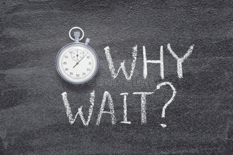 Perché orologio di attesa immagine stock libera da diritti