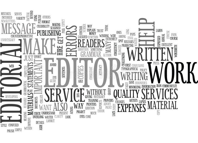 Perché sia i servizi dell'editoriale importanti esprimono la nuvola royalty illustrazione gratis