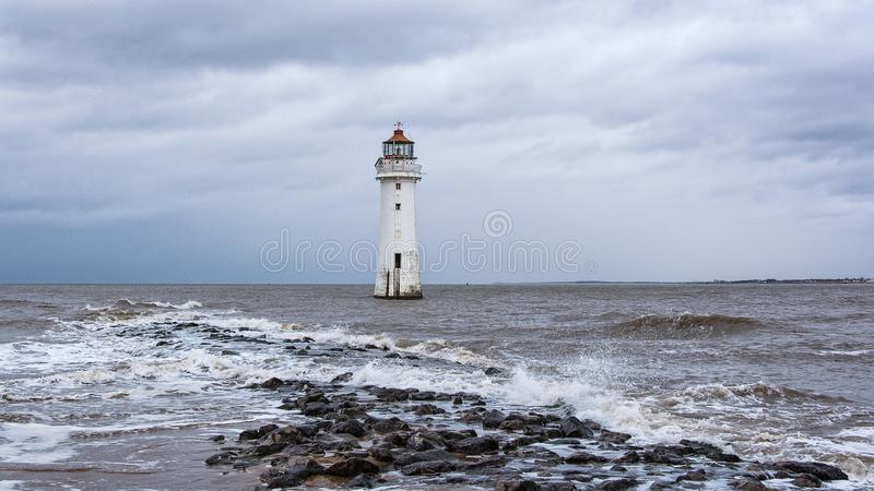 Perch Rock Lighthouse New Brighton Wirral England UK royalty free stock photos