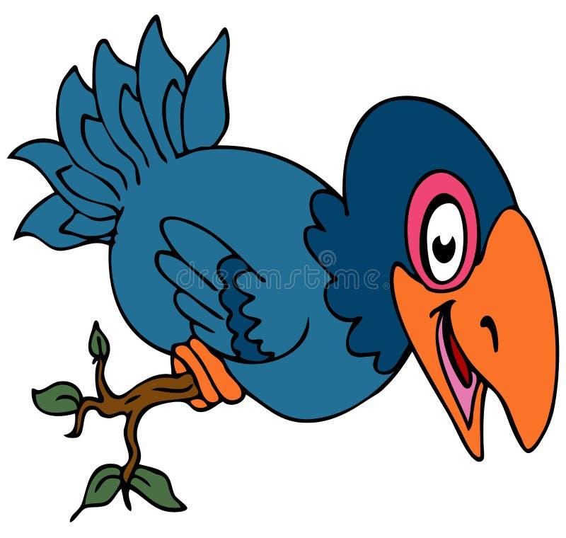 Download Perched Crow Bird stock vector. Image of cartoon, bird - 17815824