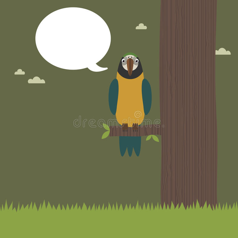 Download Perched parrot stock vector. Illustration of bird, concept - 11051568