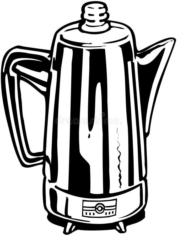 Percolador del café ilustración del vector