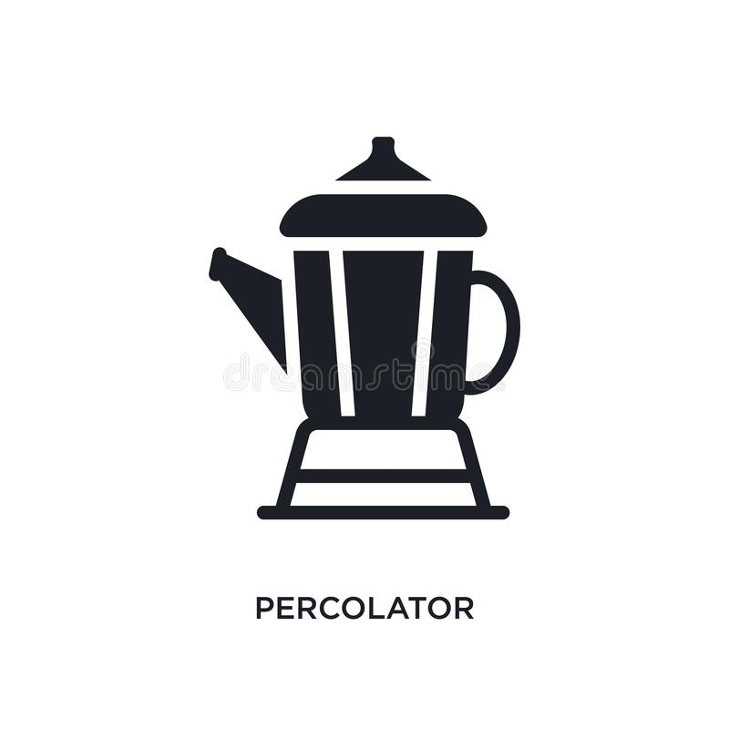 Percolator isolated icon. simple element illustration from electronic devices concept icons. percolator editable logo sign symbol. Design on white background royalty free illustration