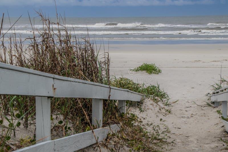 Percorso alla spiaggia Bryn Mar Ocean Resort, St Augustine immagini stock libere da diritti