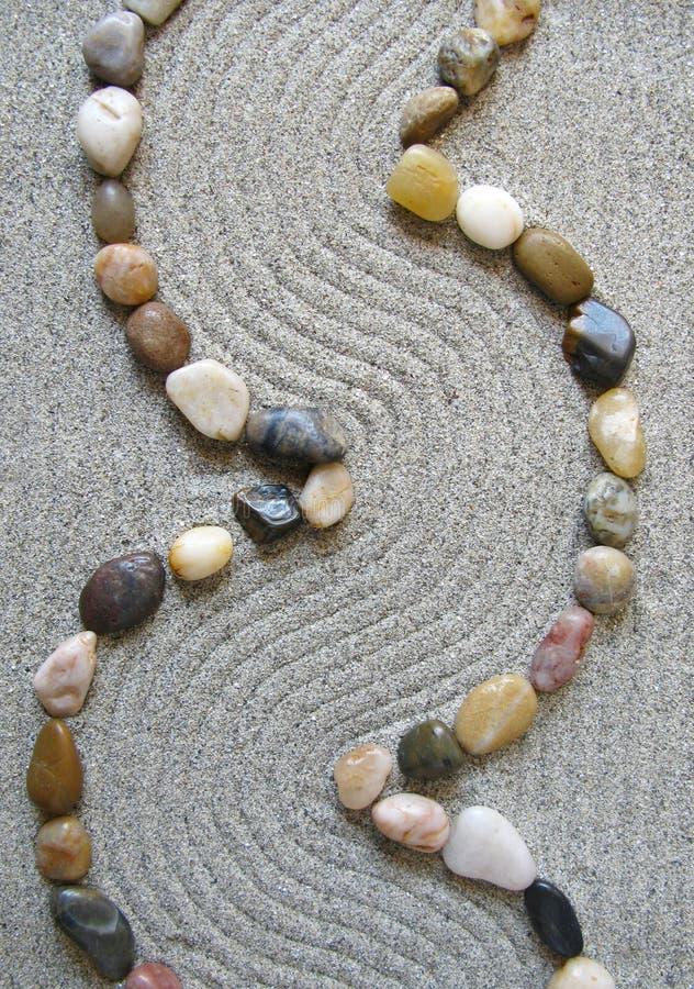 Percorso del giardino di zen immagini stock libere da diritti