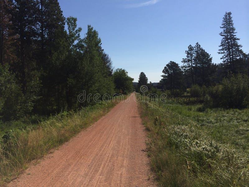 Percorso della bici del Sud Dakota fotografia stock libera da diritti
