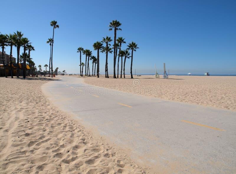 Percorso della bici della Santa Monica fotografie stock libere da diritti
