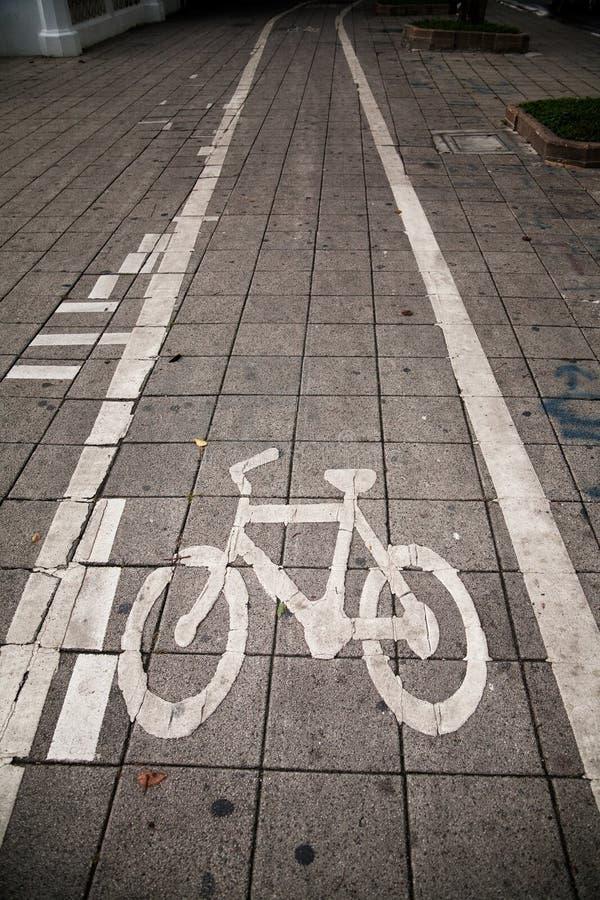 Percorso della bicicletta fotografia stock libera da diritti