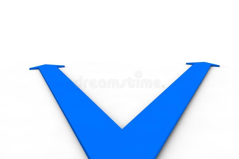 percorso della freccia 3d immagini stock libere da diritti