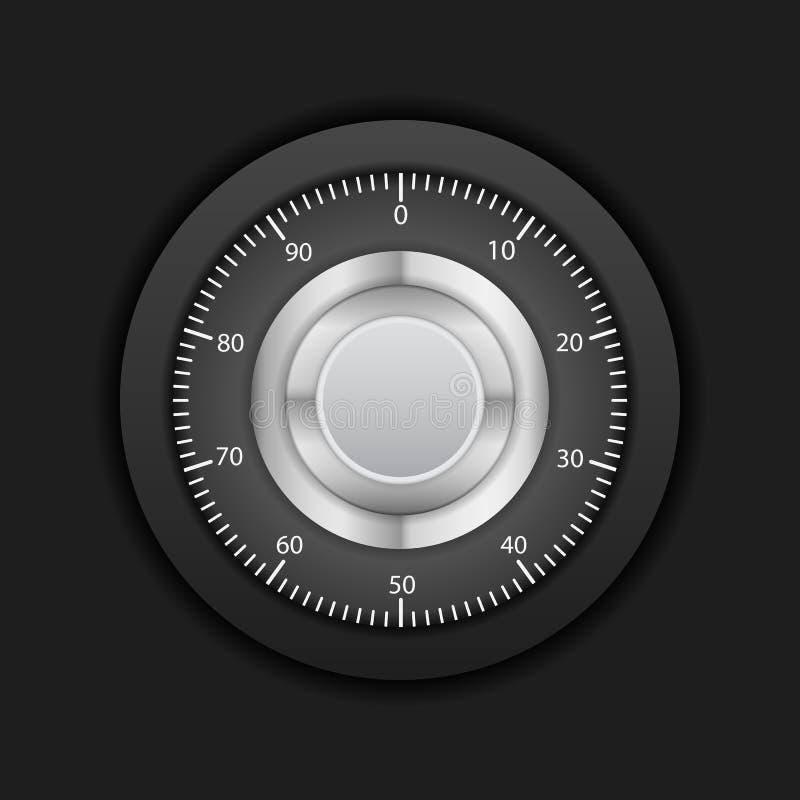 Percorso della serratura di combinazione illustrazione di stock