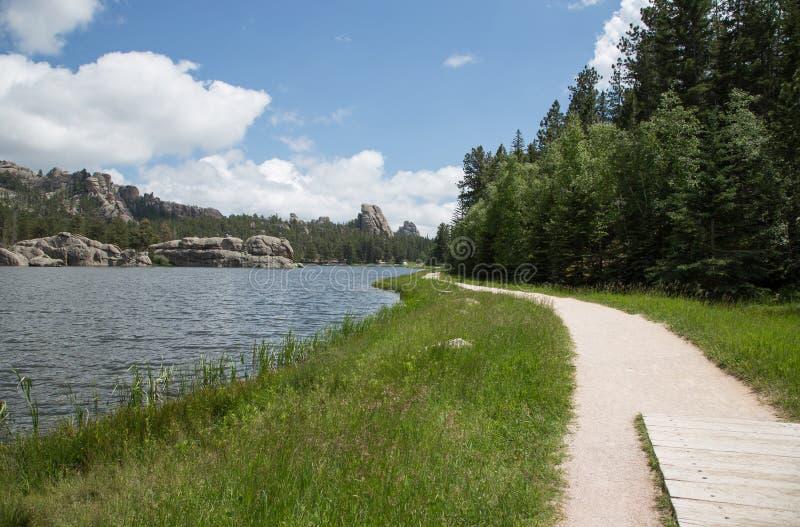 Percorso di camminata silvestre del lago south Dakota fotografia stock