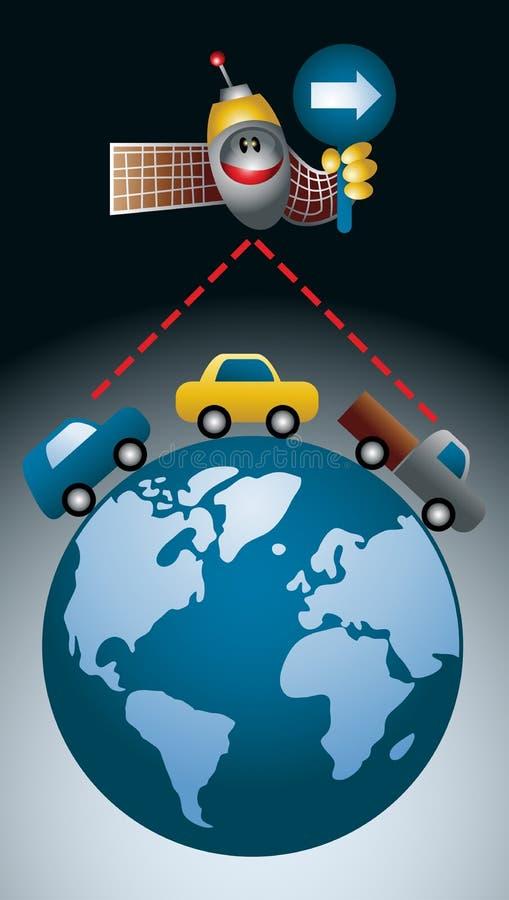 Percorso di GPS illustrazione di stock