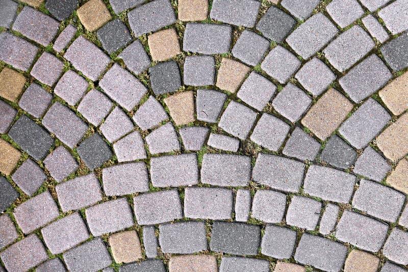Percorso di pietra alla vecchia città in Europa Struttura, fine su Priorità bassa strutturata estratto immagini stock